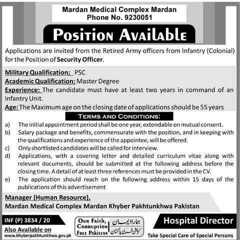 Mardan Medical Complex MMC Jobs 2020