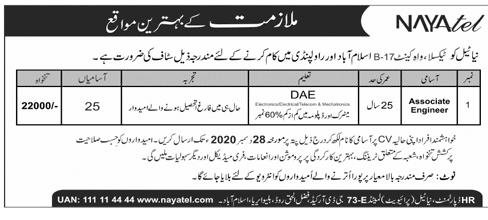 Nayatel Jobs 2020